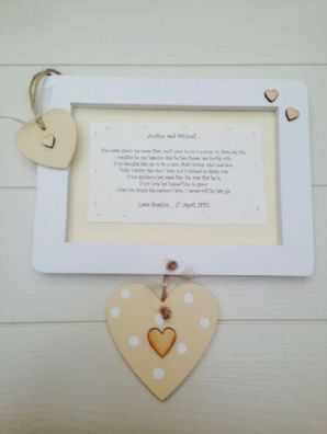 Shabby personalised Gift Chic Mother And Father Of Groom Wall Hanging Wedding